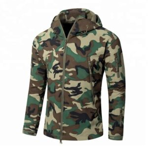 Men's Waterproof Military Camo Softshell